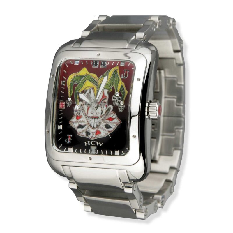 HCW302-SS Joker Poker Watch with Cordovan Dial, designed by Steve Soffa