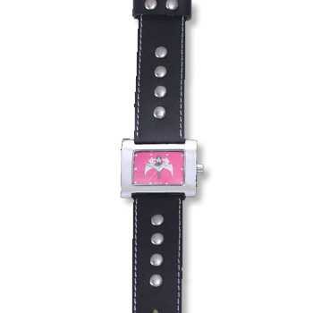 HCW615-LTR-PK Princess of Darkness Ladies' Watch in Leather with Pink Artwork, designed by Steve Soffa
