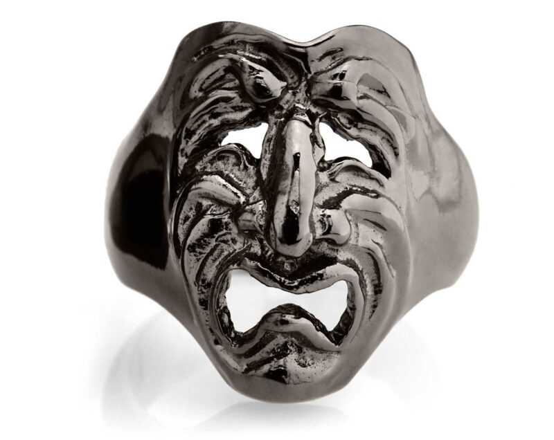 RG120BK Tragedy Ring in Sterling Silver (Black Collection), designed by Steve Soffa