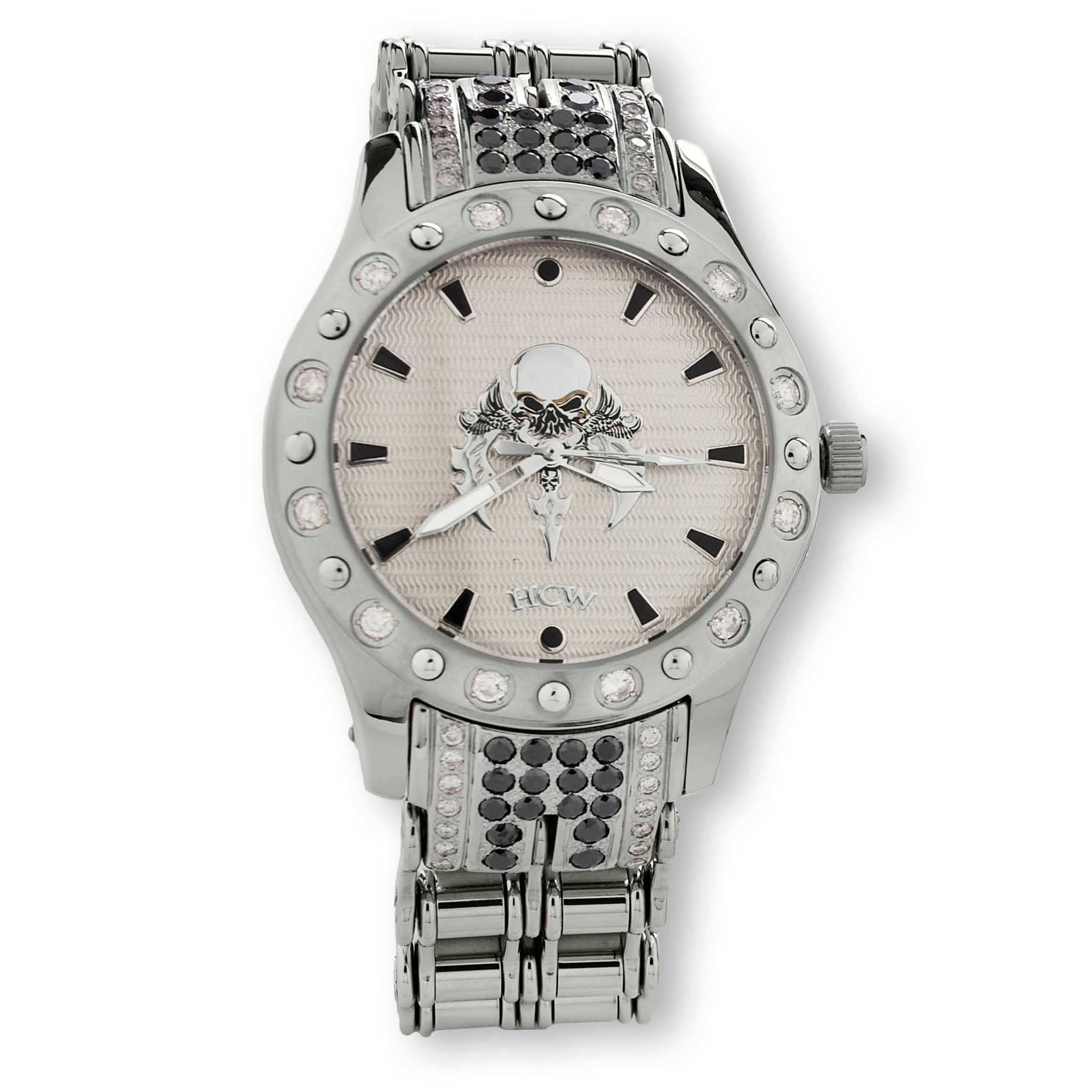 HCW206DC-WT-BK HCW206DC-WT-BK Blade Runner stainless steel watch, White & Black Diamonds