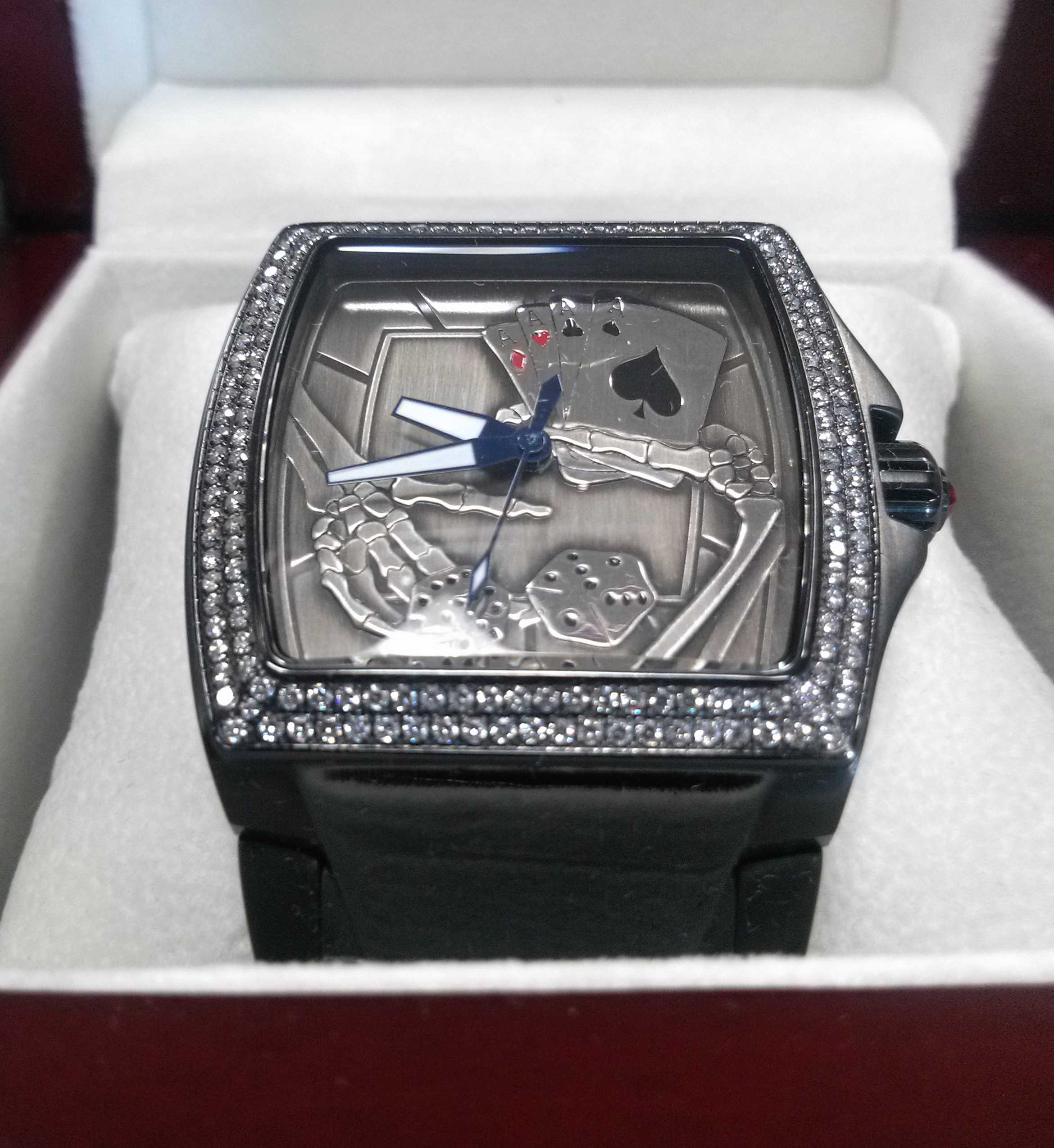 """Aces"" Custom Watch :: Design inspired by Chopper Art"