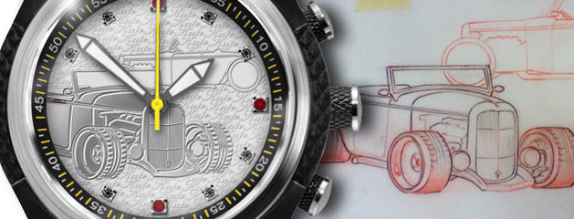 """Kate"" Custom Watch :: Design inspired by Collector's Classic Car"