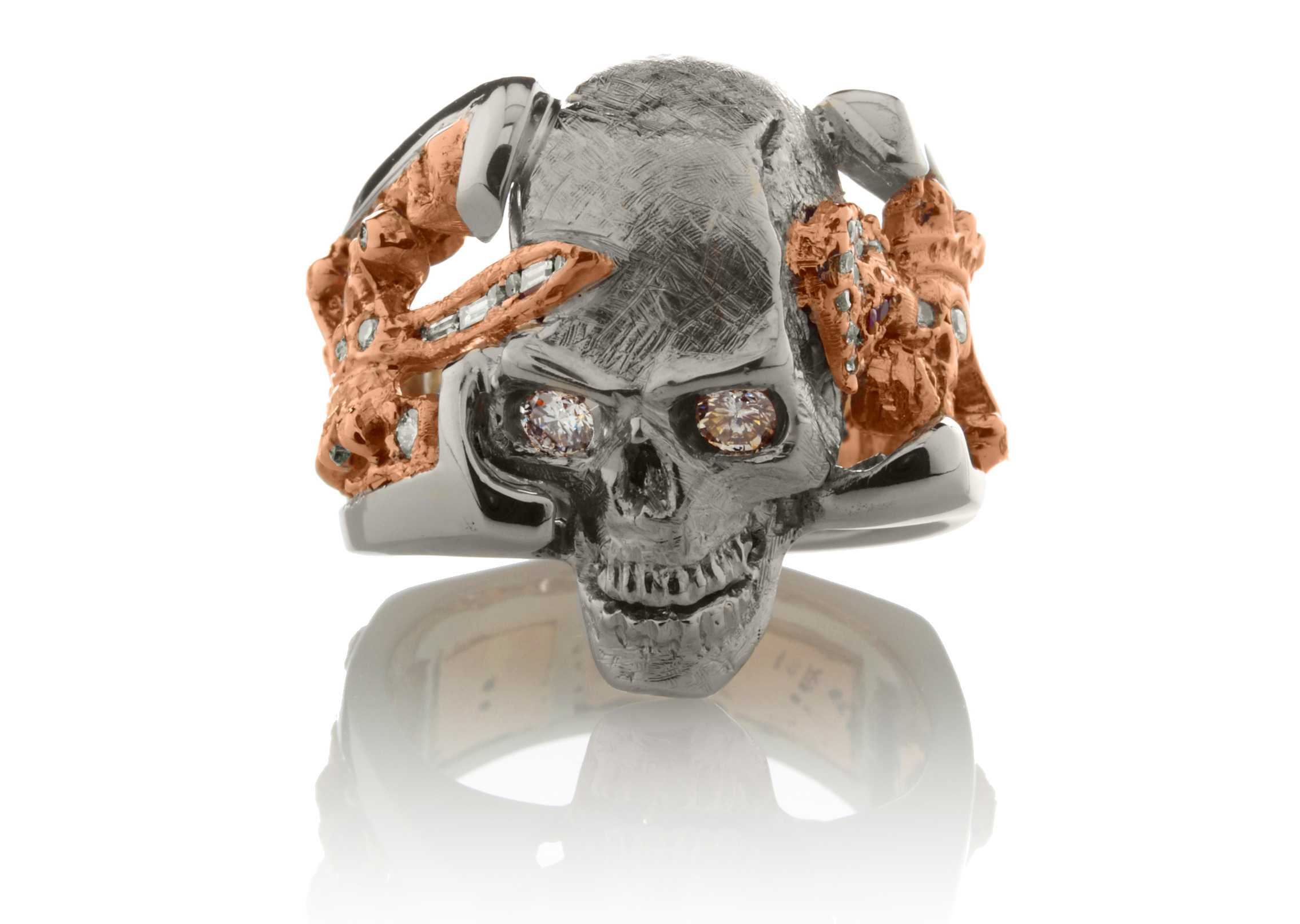 """Skull King"" Custom Ring :: (RG1050)"
