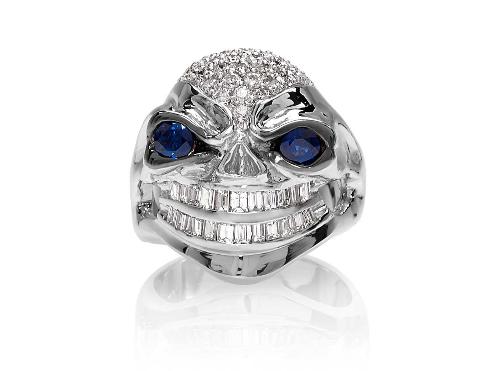 halo round bijoux prong triple majesty with blue accents cluster white diamond in gold ring stone shared multi rings o cocktail and