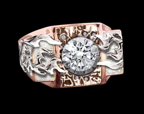 """""""Flaming Diamond"""" Custom Ring"""