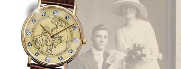 """Anniversary"" Custom Watch :: Design from Heirloom Photograph"