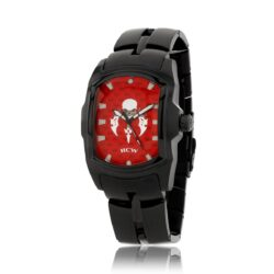 HCW106BK-RD Blade Runner 2 Watch in Black IP Bracelet, Red Face, designed by Steve Soffa
