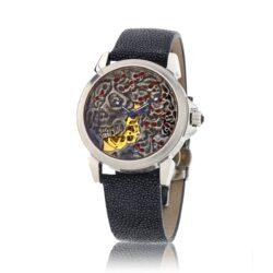 ART716 Mechanical Madness Skull Watch JCK Award-Winner, Stingray Strap, designed by Steve Soffa