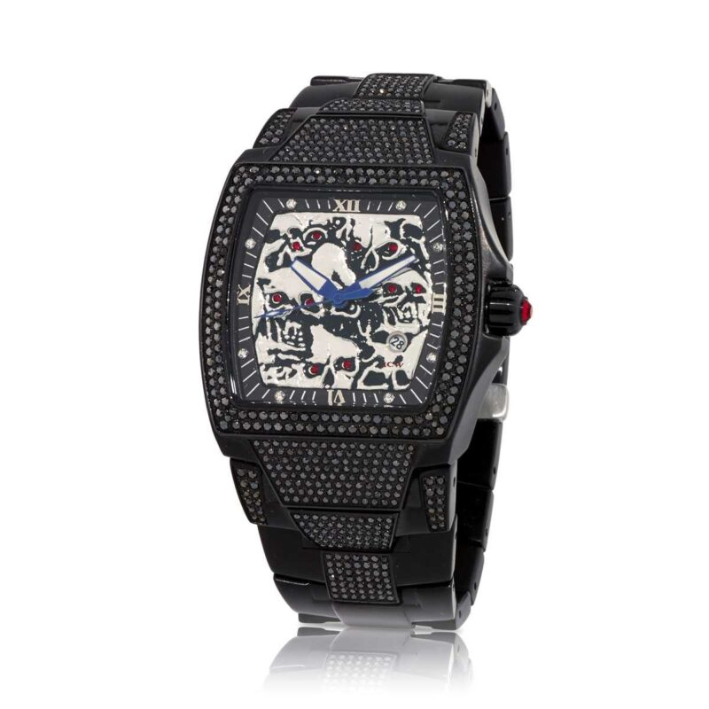 Lost Skulls Watch in Black IP with Black Diamonds 5.25ct (Diamond Collection), designed by Steve Soffa.