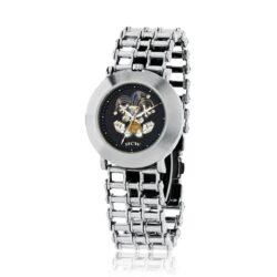 Time To Play - Joker Watch in Stainless Steel Bike Chain Bracelet, designed by Steve Soffa