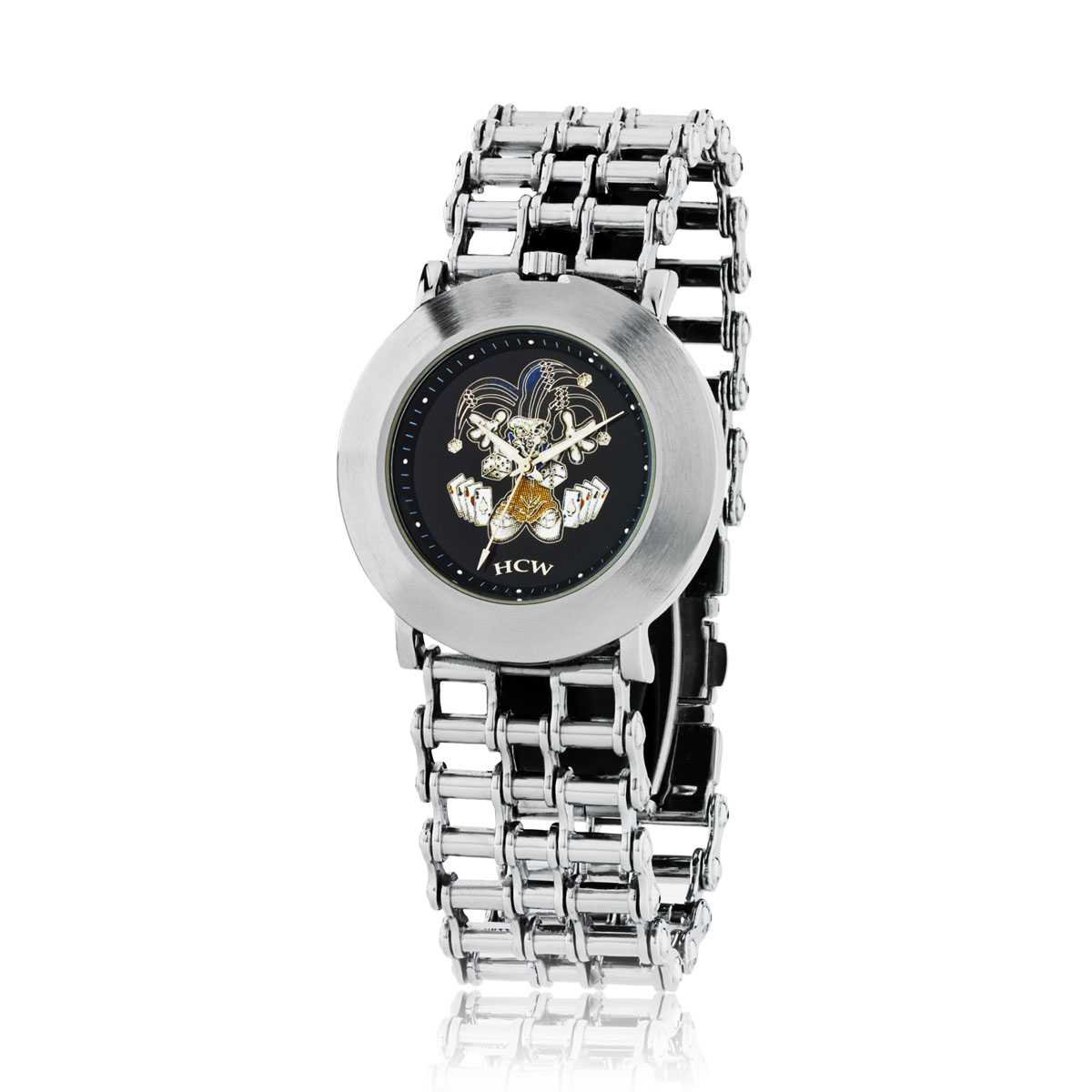 silver main wid p rose chain and tone watch women link gold watches