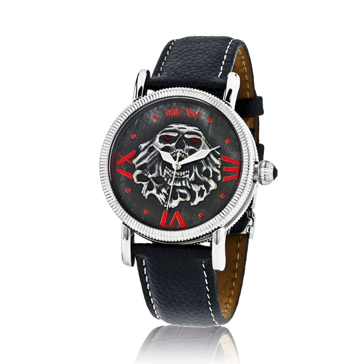 Soul Collector Watch in Leather and Stingray Strap in Black, designed by Steve Soffa