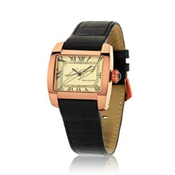 VC408 Signature Series Watch in Rose Gold IP, Italian Leather Strap, designed by Steve Soffa