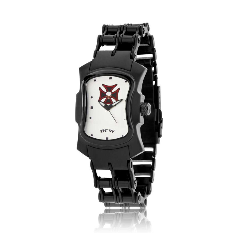 HCW406BC-BK The Gatekeeper Watch in Stainless Steel or Black IP, designed by Steve Soffa