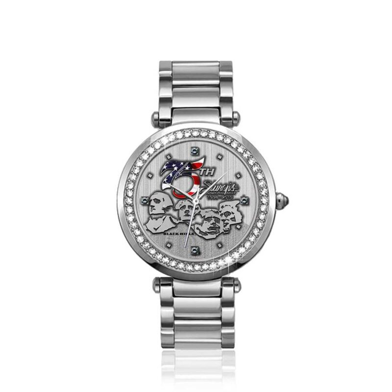 """Sturgis 75th Anniversary """"Rushmore Logo"""" Limited Edition Ladies Watch :: in Stainless Steel"""