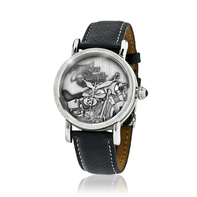 "Sturgis 75th Anniversary ""Motorcycle Logo Edition"" Watch :: Unisex in Leather Strap"
