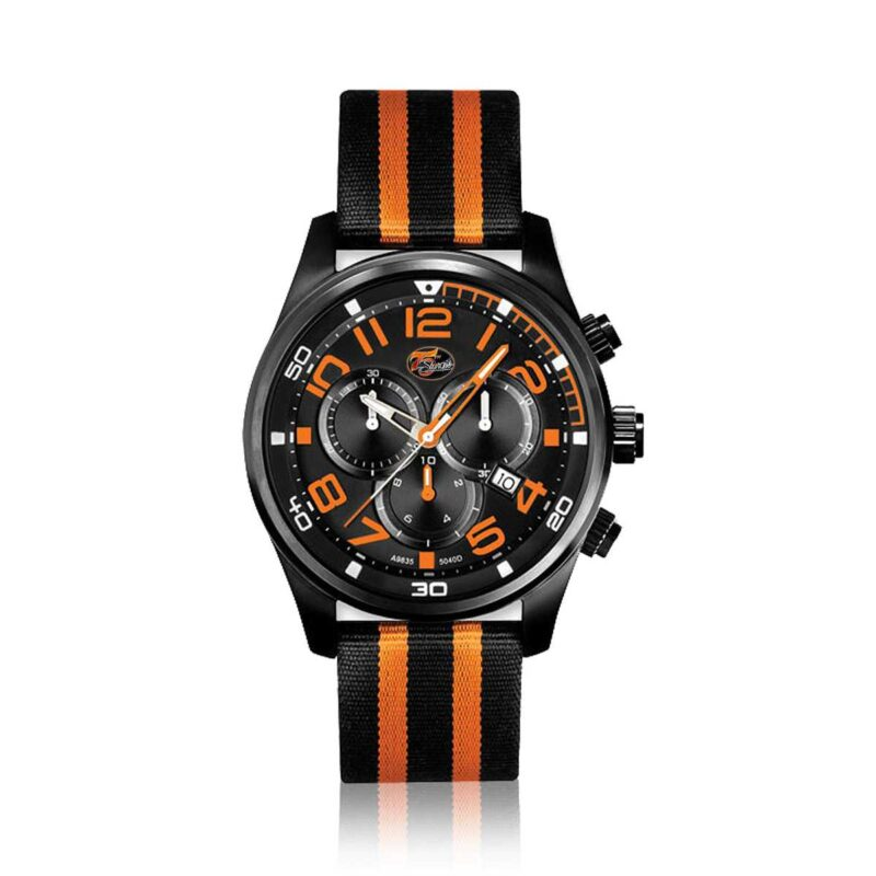 Sturgis 75th Anniversary Logo Edition Watch :: in Black and Orange
