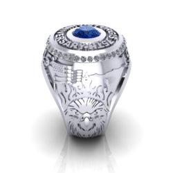 Sturgis 75th Anniversary Ltd Edition Ring in WG with Sapphire & White Diamonds_2