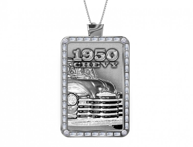 (2) The Design: 1950 Chevy Dogtag