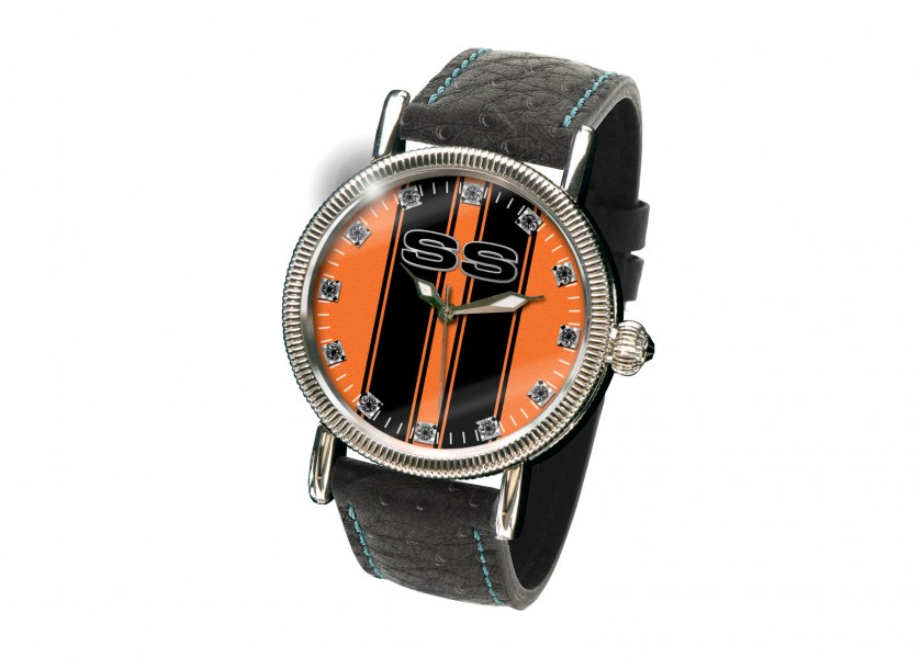 (2) The Design: 1970 SS Camaro Watch in Leather Strap