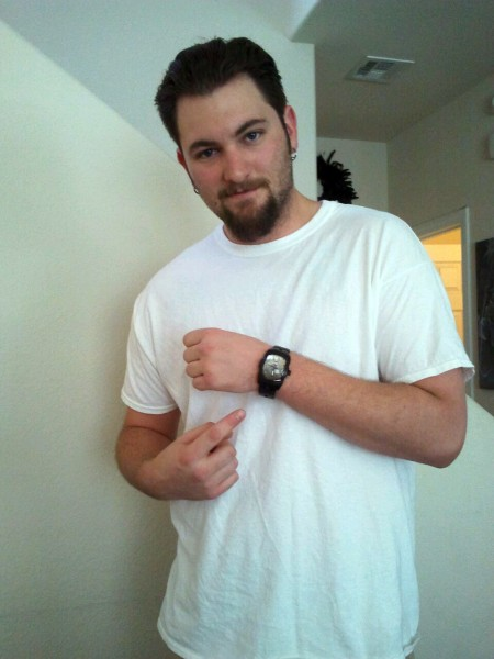 (7) Paul Bermani, the happy recipient of a watch with his own artwork incorporated into the design!
