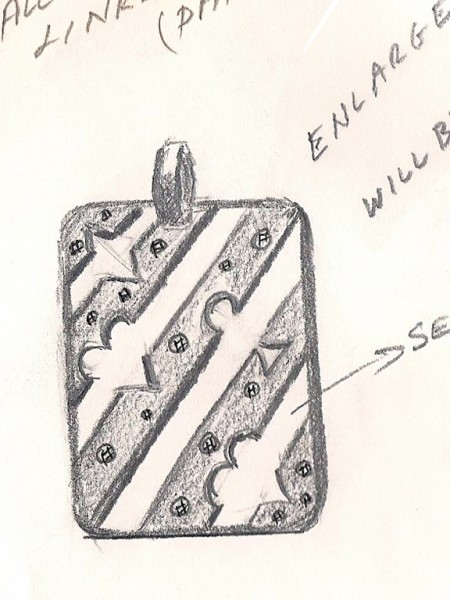 "(1) The inspiration: ""Players"" Dogtag Sketch Detail"